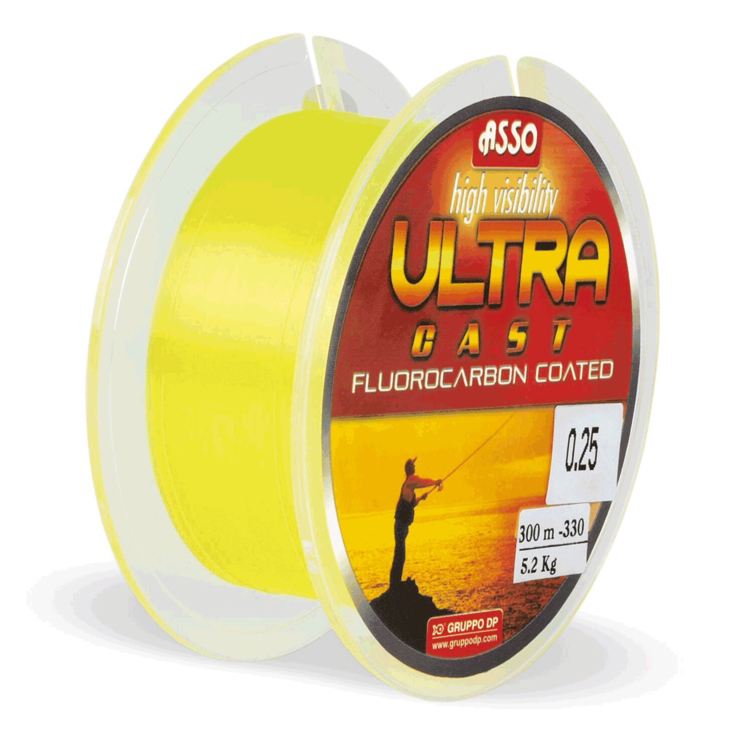 FILO ASSO ULTRA CAST GIALLO 0.32 MM 1000 MT FLUOROCARBON COATED SURFCASTING